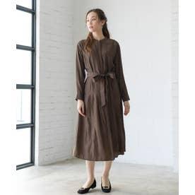 【WEB限定】ロングシャツ羽織ワンピース(0C13-2446) (チャ)