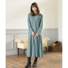 【WEB限定】ロングシャツ羽織ワンピース(0C13-2446) (ダークグリーン)