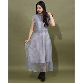 フレンチスリーブレースドレス(9R04-A1879) (Lグレー)