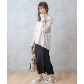 【パームオイル加工】針抜きプリーツスカート(0R10-2105) (クロ)