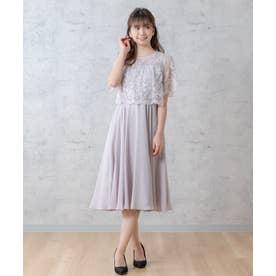 レース切替ドレス(0R04-21126) (スモーキーピンク)