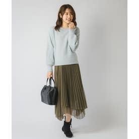 アシメプリーツスカート(0R10-10182A) (カーキ)