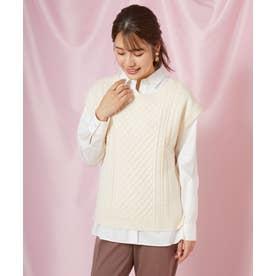 ニットベスト×シャツセット(1R11-12014) (キナリ)