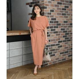 【スタイリストコラボ商品】リネンライクタイトスカート(1R10-05212) (オレンジ)