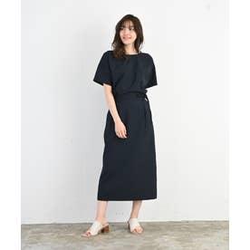 【スタイリストコラボ商品】リネンライクタイトスカート(1R10-05212) (ネイビー)
