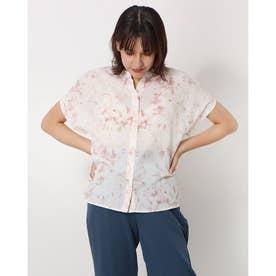 マーブルプリントスキッパーシャツ(1R13-08150) (ピンク)