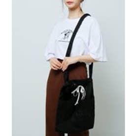 刺繍キャンバスショルダー (黒)