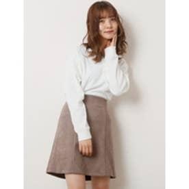 ポンチ台形スカート モカ