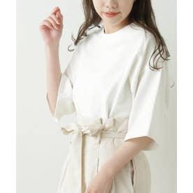 FI ラウンドヘムオーバーサイズ半袖Tシャツ(USコットン) (オフ白)