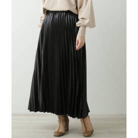 LR 変形プリーツスカート (黒)