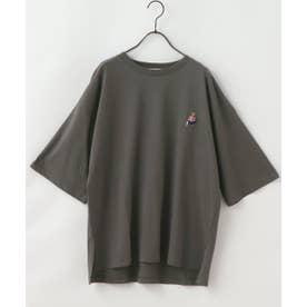 クマ刺繍Tシャツ (スミクロ)