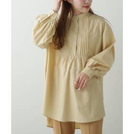バンドカラードレスシャツ (イエロー)