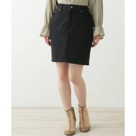 5ポケットデニムスカート (黒)