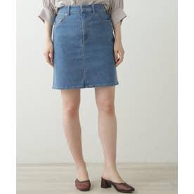5ポケットデニムスカート (ブルー)