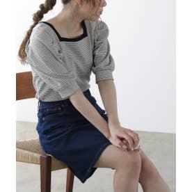 5ポケットデニムスカート (ワンウォッシュ)