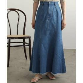ONE デニムマーメイドスカート (ブルー)