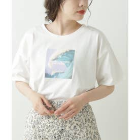 GLS アート転写ホワイトTシャツ (ブルー)
