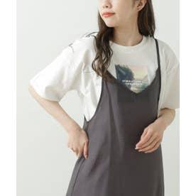 GLS アート転写ホワイトTシャツ (グリーン)