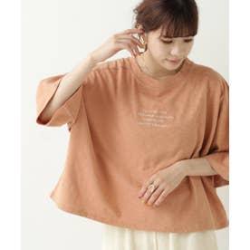 スラブ天竺刺繍ロゴT (オレンジ)