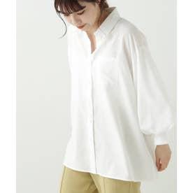 PAP スパンブロード袖ボリュームシャツ (オフ白)