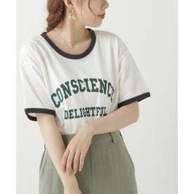 リンガーカレッジロゴTシャツ (オフ白)