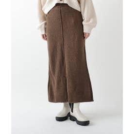 メランジニットスカート (ブラウン)