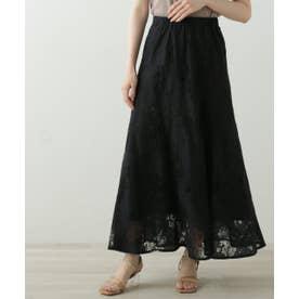 カラーレーススカート (黒)