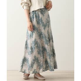 カラーレーススカート (ブルー)
