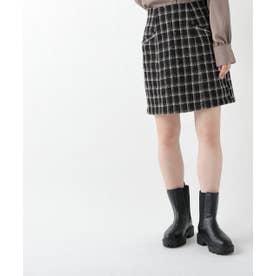 【店舗限定】ツイードミニスカート (黒)