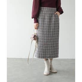 ツイードナロースカート (グレー)