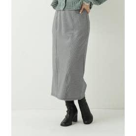 千鳥ジャガードナロースカート (黒)