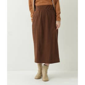 スエードツイルナロースカート (ブラウン)