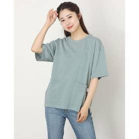 USAコットン ビッグポケットステッチTシャツ (グリーン)