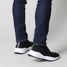 ロゴレスホワイトソールニットブーツ (宮迫グレー)