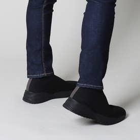 ロゴレスブラックソールニットブーツ (宮迫グレー)