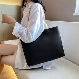 レディース バッグ かばん ショルダーバッグ ショルダー シンプル 無地 通勤 通勤バッグ 肩掛け (ブラック)