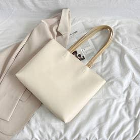 レディース バッグ かばん ショルダーバッグ ショルダー シンプル 無地 通勤 通勤バッグ 肩掛け (ホワイト)