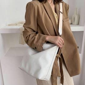 レディース バッグ かばん ショルダー ショルダーバッグ 斜めかけ 斜めかけバッグ シンプル 無地 (ホワイト)