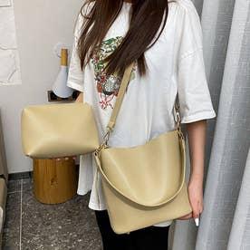 レディース バッグ かばん ショルダーバッグ ハンドバッグ ポーチ シンプル 無地 通勤 通勤バッグ (カーキ)