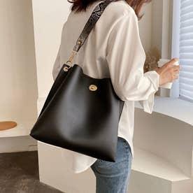 レディース バッグ かばん ショルダーバッグ ハンドバッグ ポーチ シンプル 無地 通勤 通勤バッグ 2WAY (ブラック)