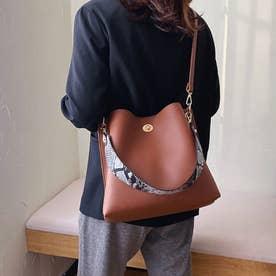 レディース バッグ かばん ショルダーバッグ ハンドバッグ ポーチ シンプル 無地 通勤 通勤バッグ 2WAY (ブラウン)