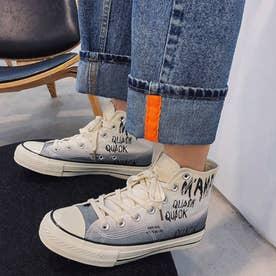 スニーカー メンズ 靴 ブラック (グレー)
