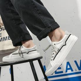 スニーカー メンズ 靴 ブラック (ホワイト)