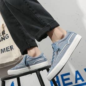 スニーカー メンズ 靴 ブラック (ブルー)