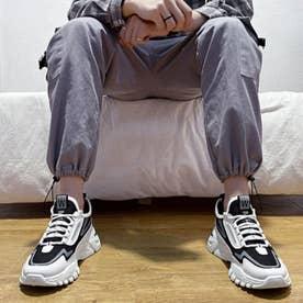 スニーカー メンズ 靴 ランニングシューズ 軽量 (ブラック)