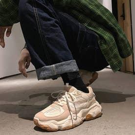 スニーカー メンズ 靴 ランニングシューズ 軽量 (ベージュ)