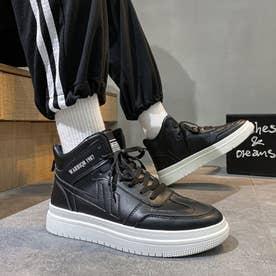 スニーカー メンズ 靴 ランニングシューズ (ブラック)
