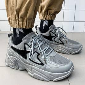 スニーカー メンズ 靴 ランニングシューズ (グレー)