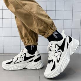 スニーカー メンズ 靴 ランニングシューズ (ホワイト)