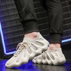 スニーカー メンズ 靴 ランニングシューズ (ベージュ)